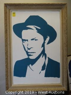 David Bowie 29x41 Framed Art