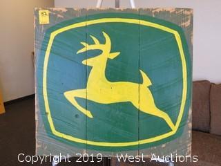 John Deere 24x23 Wood Sign