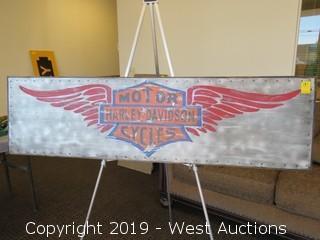 Harley Davidson 60x17 Steel/Wood Sign