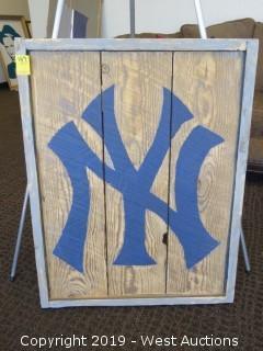 New York Yankee 26x34 Wood Sign