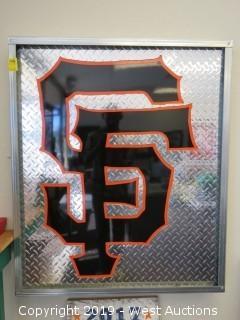 San Francisco Giants 36x43 Steel Sign