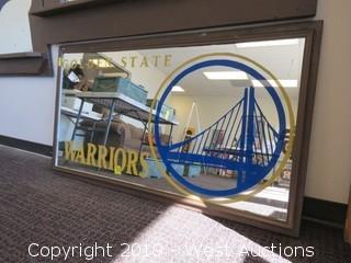 Golden State Warriors 55x32 Mirror