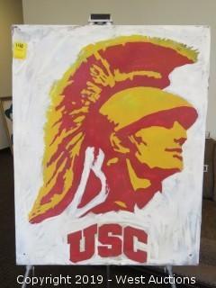 USC Trojan 24x30 Steel Sign