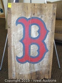 Boston Red Socks 23x39 Wood Sign