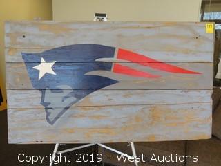 Patriots 45x26 Wood Sign