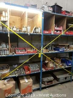 Bulk Lot; (2) Shelving Units With Steel Pipe Fittings