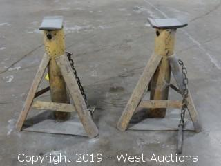 (2) Heavy Duty Jack Stands