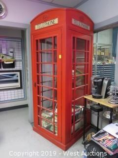 Vintage Solid Wood Telephone Booth
