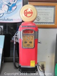 "Gasoline 14"" Gas Pump Radio"