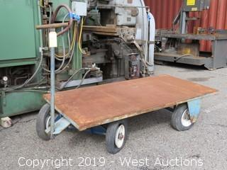 3'x6' Flatbed Steel Cart