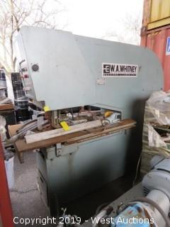 W.A. Whitney Industrial Punch Press/Nibbling Machine