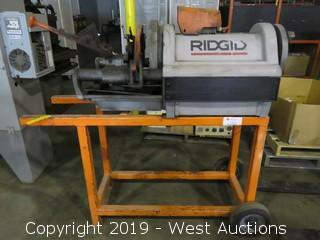 Ridgid 1224 Cart Mounted Pipe Threading Machine