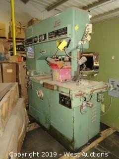 "1969 Kysor Johnson V-36 36"" Vertical Bandsaw"