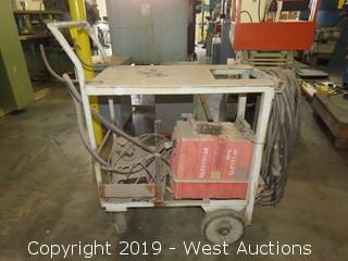 Powcon 300 SM Welder With Feeder and Welder Cart