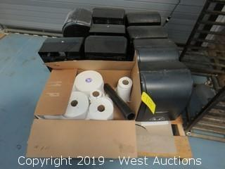 Pallet Of (9) Wasau Paper Towel Dispensers and Paper Rolls
