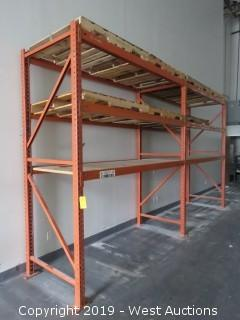 (2) Sections of 9.5' Tall Pallet Racking