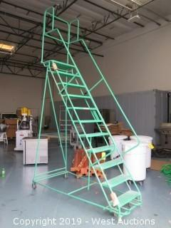 8.5' Rolling Warehouse Ladder