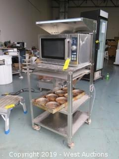 Menumaster Commercial Microwave and Rack