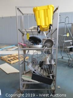 (9) Hobart Mixing Attachments and More with Rack