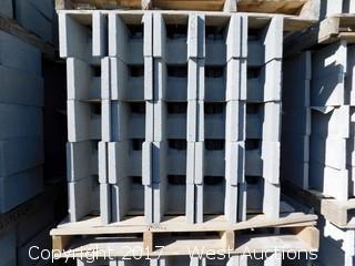 (1) Pallet of 8x8x16 DOEBB - Precision Grey Lightweight