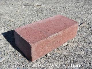 (1) Pallet of 2x4x8 - Red Concrete Brick