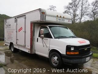 2004 Chevrolet 20' Box Van with Blueline Thermal Wave HP Carpet Cleaning Truck Mount