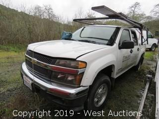 2005 Chevrolet Colorado Z71 Crew Cab Pickup Truck (For Parts)