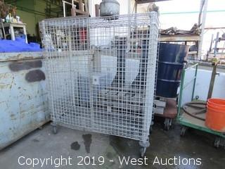 "Portable 62""w X 24"" Long x 62"" Tall Portable Steel Cage"