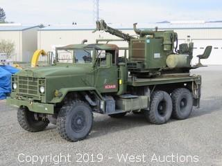 1986 AM General M923 5-Ton 6x6 Turret Mounted Reedrill Texoma 270 Well Drill Rig (Overhauled in 1992)