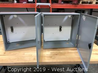 (2) Hoffman A-20N20BLP Electrical Enclosures