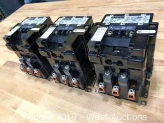 Square D Type DPA123 Contactor, 120A, Qty. 3