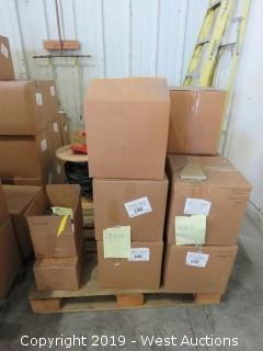 Pallet: (13) Boxes Of Spectra Gutter Ends, And Mounting Brackets