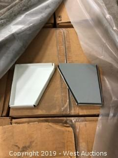 Pallet: (25) Boxes Of Fascia Steel White Left/Right Gutter End Caps