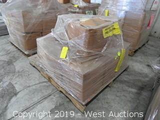 Pallet: (12) Boxes Of Steel Cream Left/Right Gutter end Caps