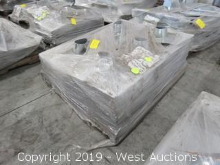 "Pallet: (240) 4"" Galvanized Roof Jacks"