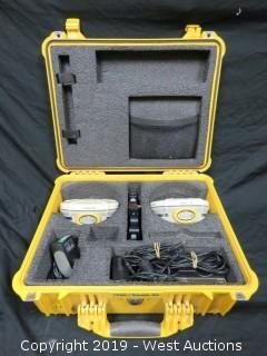 (2) Trimble R8 Rover Receivers With Accessories And Case