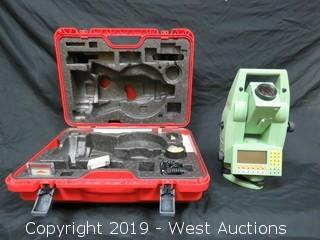 Leica TCR1105 Total Station With Accessories And Case