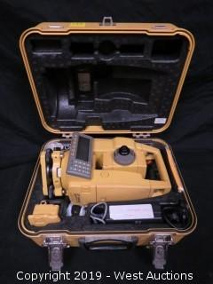 Topcon GTS-605 Electronic Total Station With Case And Accessories