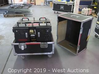 """(2) FOR PARTS Toshiba TR2010E 10mm 25""""x19"""" Virtual Outdoor LED Video Displays Panels With Road Case"""