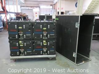 """(8) Toshiba TR2010E 10mm 25""""x19"""" Virtual Outdoor LED Video Displays Panels With Road Case"""
