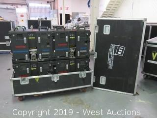 """(8) FOR PARTS Toshiba TR2010E 10mm 25""""x19"""" Virtual Outdoor LED Video Displays Panels With Road Case"""