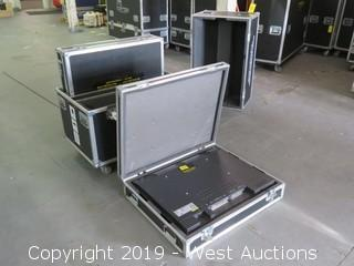 "(2) Hitachi CMP307XU 37"" Plasma TVs With (3) Road Cases"