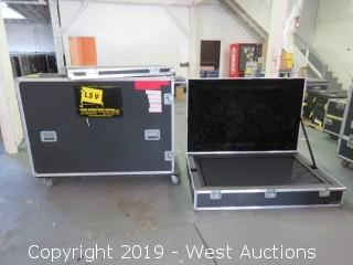 """LG 60"""" Plasma HGTV With Accessories And (2) Road Cases"""