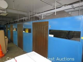 (5) Green Mfg. Inc. Welding Booths (Walls Only)