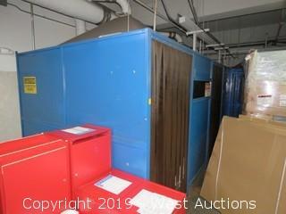 (3) Green Mfg. Inc. Welding Booths (Walls Only)