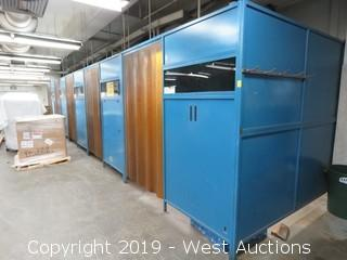 (5) Green Mfg Inc. Welding Booths (Walls Only)