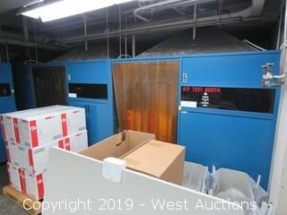 (3) Green Mfg. Inc. Welding Booths (Walls Only)
