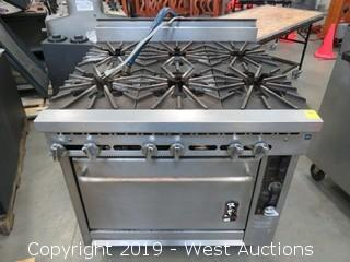 Montague (6) Burner Range With Oven On Casters
