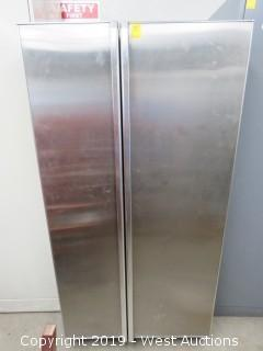 GE Industrial Side by Side Refrigerator with Freezer