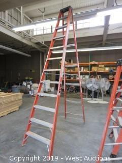 10' Fiberglass Folding Ladder
